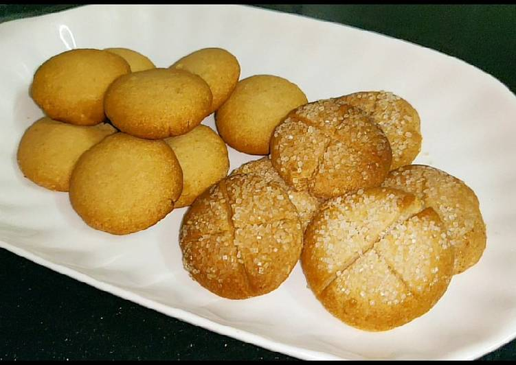 Healthy whole wheat aata cookies with and without oven