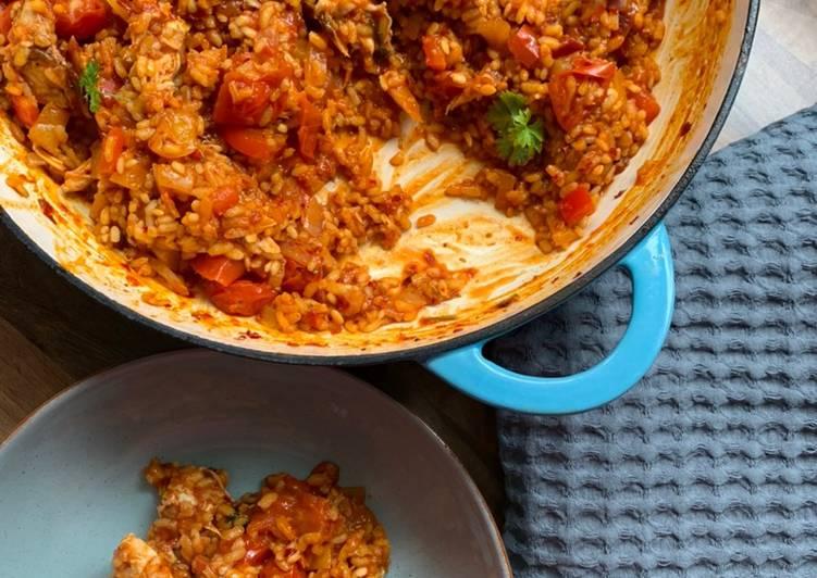 Chicken & Nduja paella