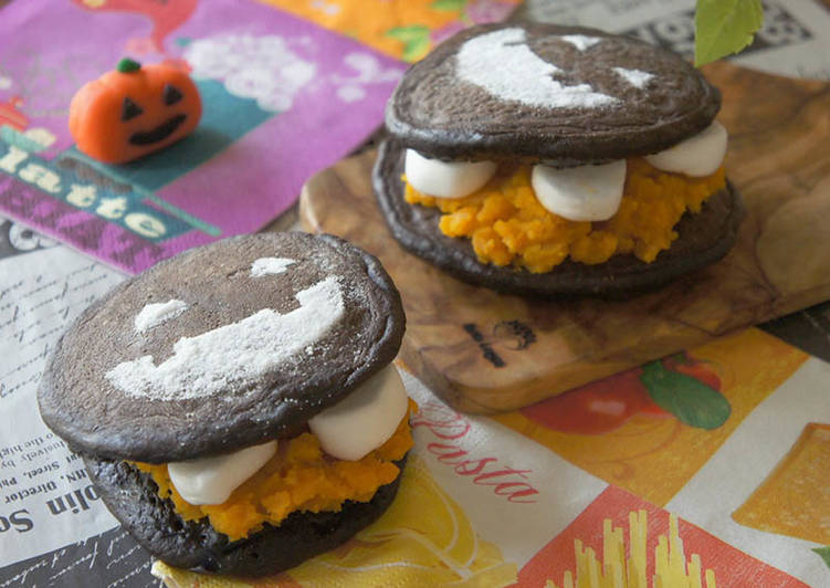 Steps to Make Any-night-of-the-week Funny Halloween Dorayaki