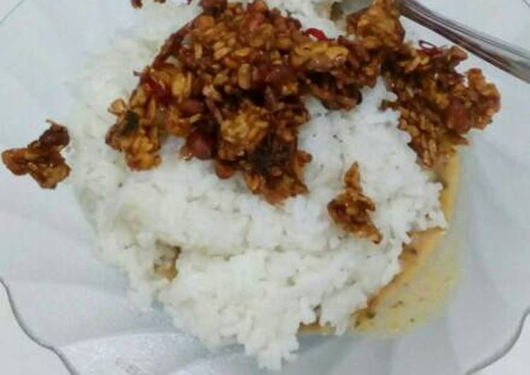 Nasi pecel ala kadarnya