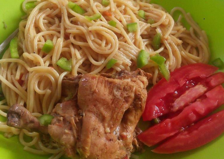 Turn to Food to Boost Your Mood Spaghetti cooked with chicken #Festival contest# Mombasa