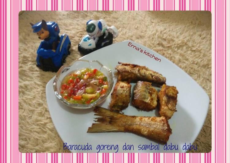 Baracuda goreng dengan sambal dabu dabu