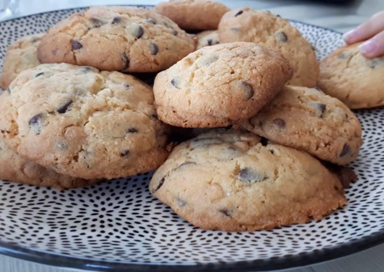 La Recette Pas à Pas Cookies pépites chocolat