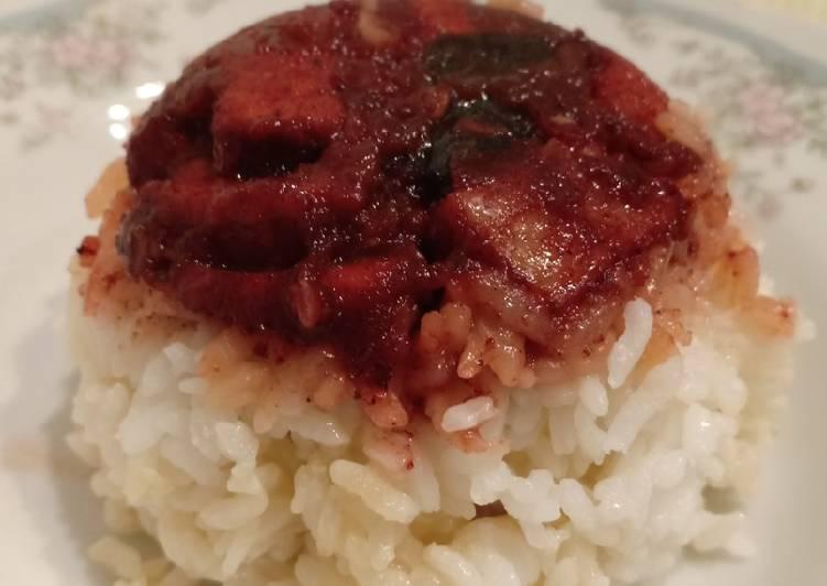 Nasi Tim Cashew Pork