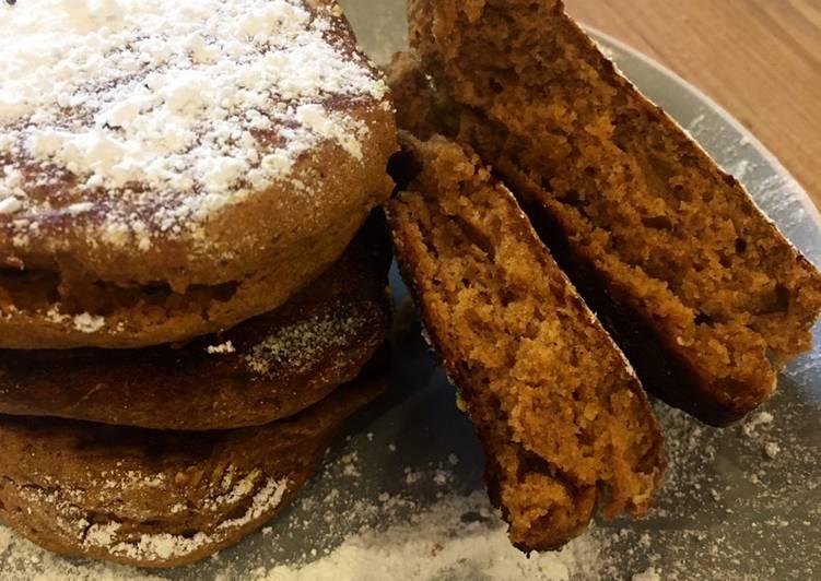 Sweet Spiced Buckwheat Pumpkin Pancakes