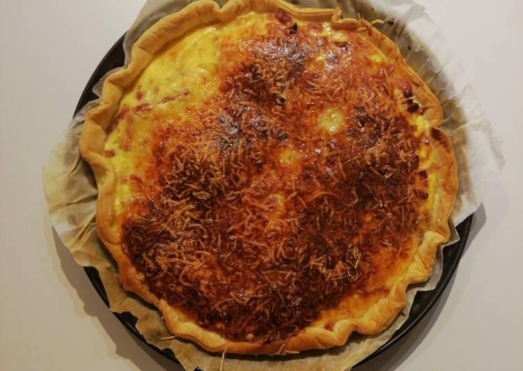 Quiche raclette et lardons