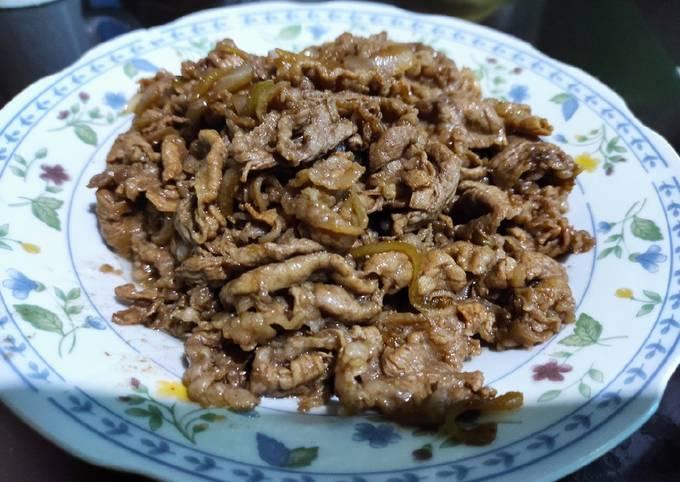 Beef Terriyaki (Ala Yoshinoya)