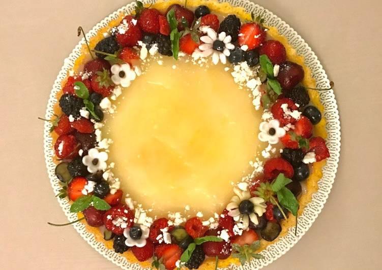 Ricetta Crostata Morbida con Crema all'acqua di Limone