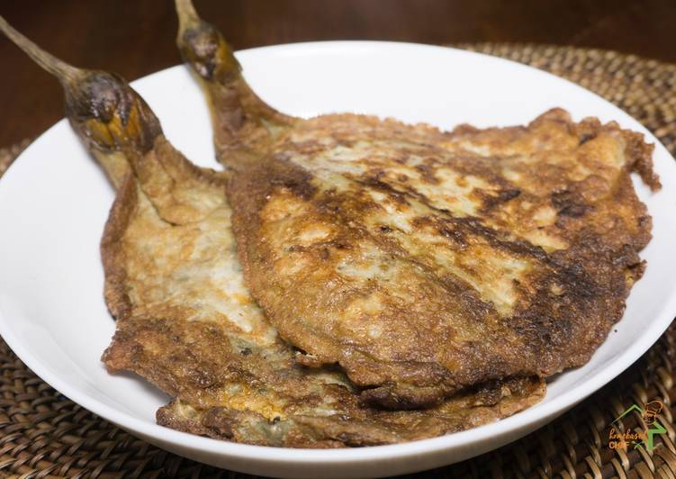 Recipe: Tasty Meaty Eggplant Omelette (Tortang Talong with Giniling)