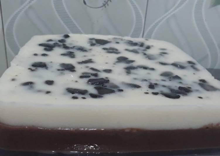 Puding Jelly Vanila Coklat oreo Favorit
