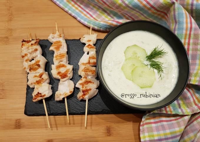 Recipe: Tasty Spiedini di pollo con salsa tzaziki