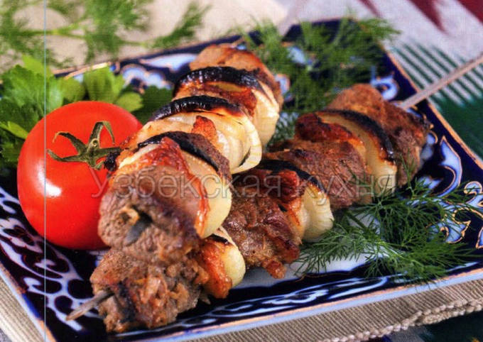 Шашлык по-узбекски - узбекская кухня