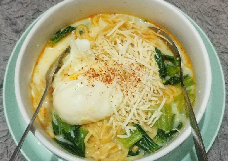 Resep Indomie soto susu 😁 Paling Mudah