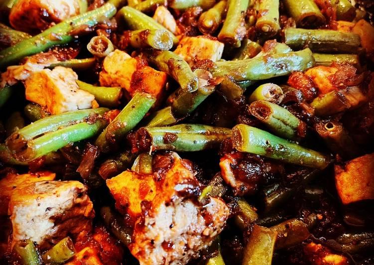 Black Pepper Tofu & Green Beans