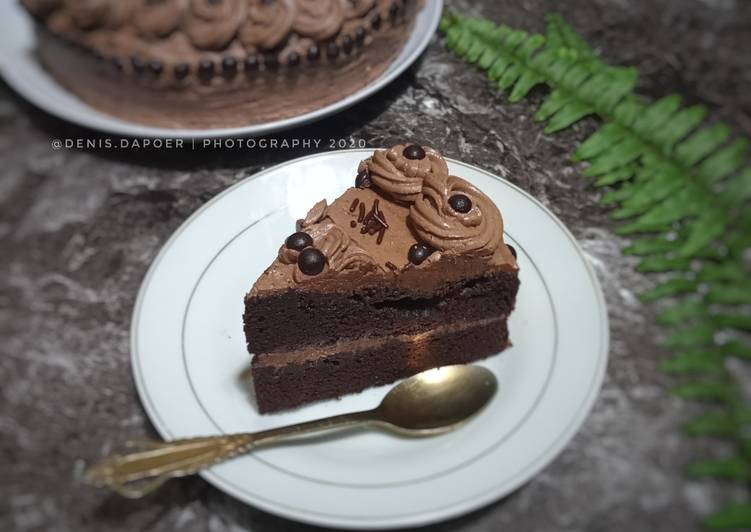 Cara Gampang Menyiapkan Chocolate cake (kukus / oven) yang Lezat Sekali