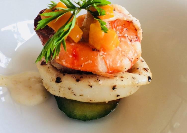 Cuttle fish salad with lemon vinaigrette