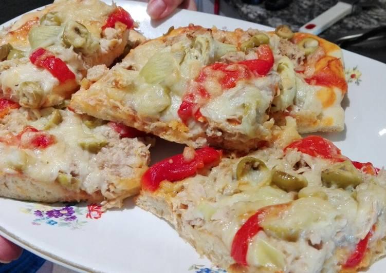 Pizza con masa reposada 12h🍕