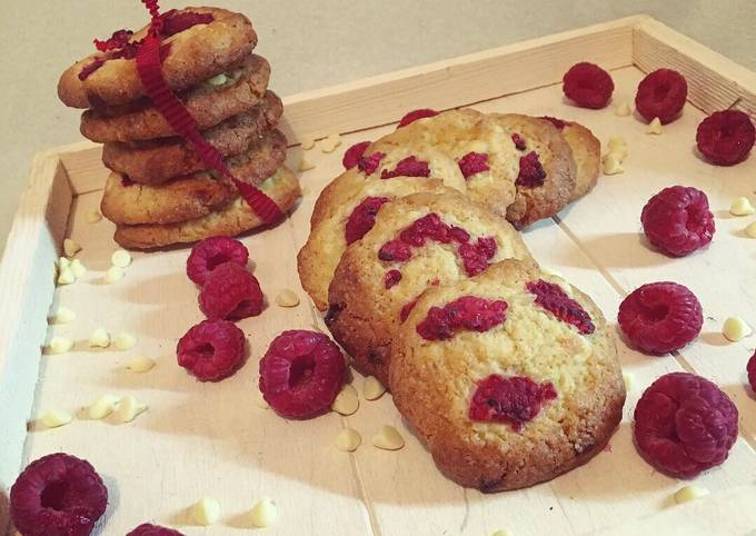 Cookies chocolat blanc/framboise 🍪