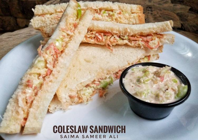 Step By Step Guide To Make Ultimate Coleslaw Sandwich With Homemade Mayonnaise All Cooking