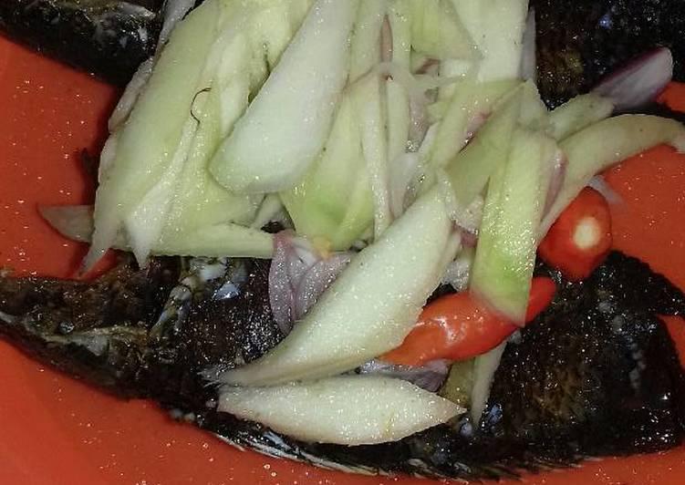 Ikan bethek/papuyu cacapan khas banjar