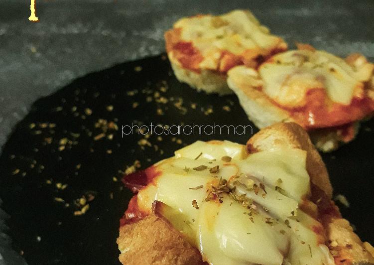 Cara Mudah Masak: Mini Bread Pizza  Lazat