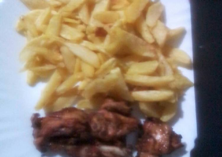 Chips n chicken home made