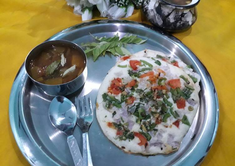 Step-by-Step Guide to Make Super Quick Homemade Uttapam with sambar