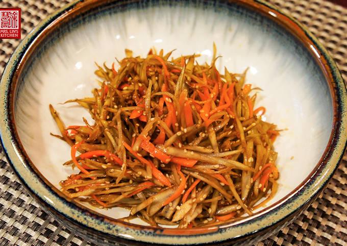 Japanese Sauté Burdock Root -Kinpira Gobo (金平ごぼう)炒牛蒡