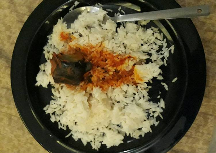 Recipe of Ultimate White rice and catfish stew