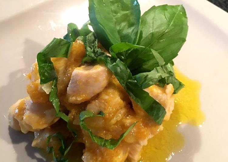 Ricetta Pollo esotico con mango e basilico