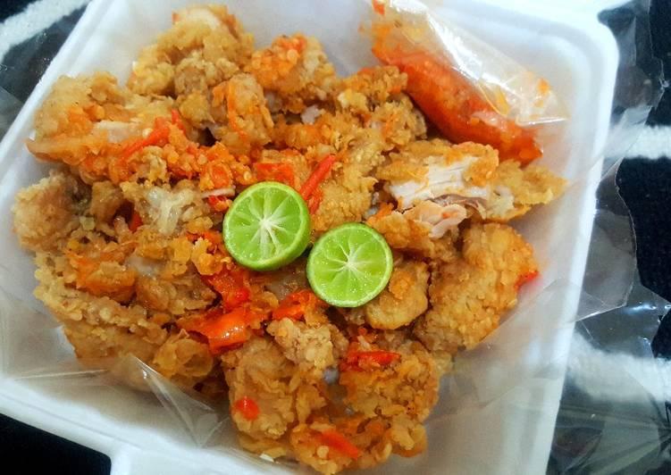 Ayam Geprek special kriuk