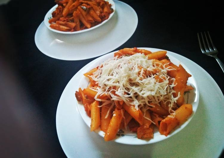 Steps to Make Favorite Italian penne with Indo-Chinese twist