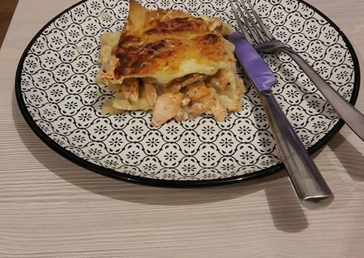 Lasagnes saumon chou-fleur