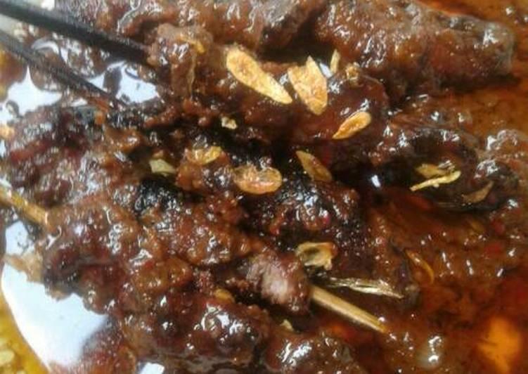 Sate kambing bumbu kacang ala2 madure #KitaBerbagi