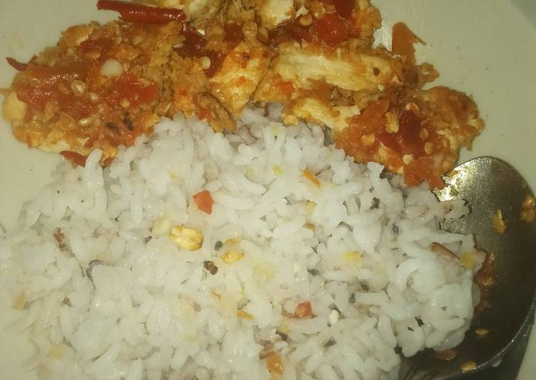 Ayam geprek diet version