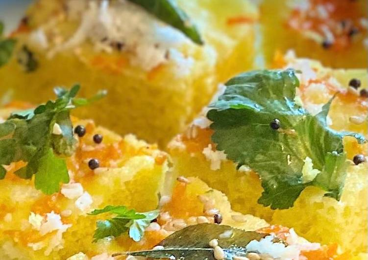 Recipe of Homemade Moong dal dhokla