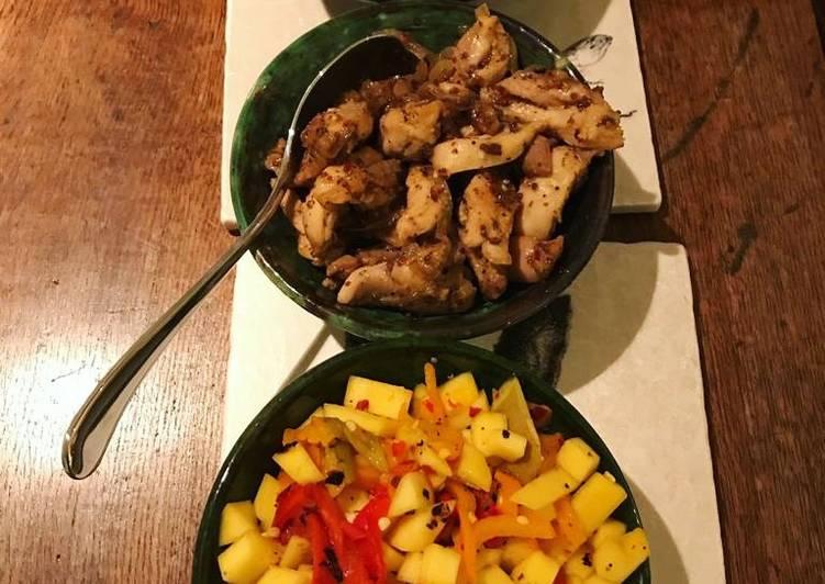 Honey and mustard chicken