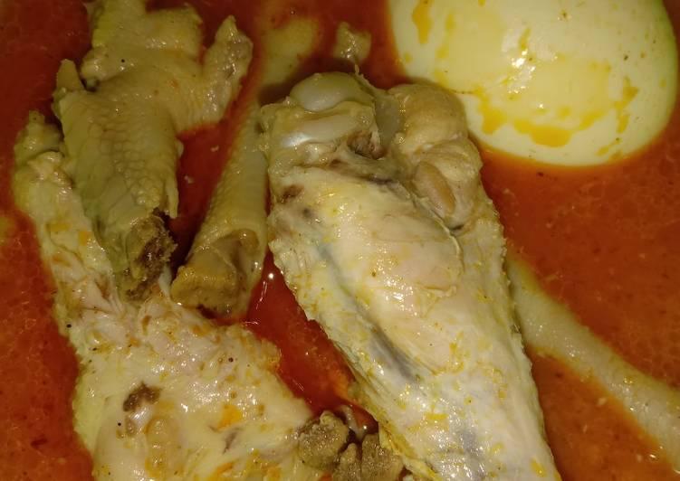 Gulai Ayam Telor Ceker