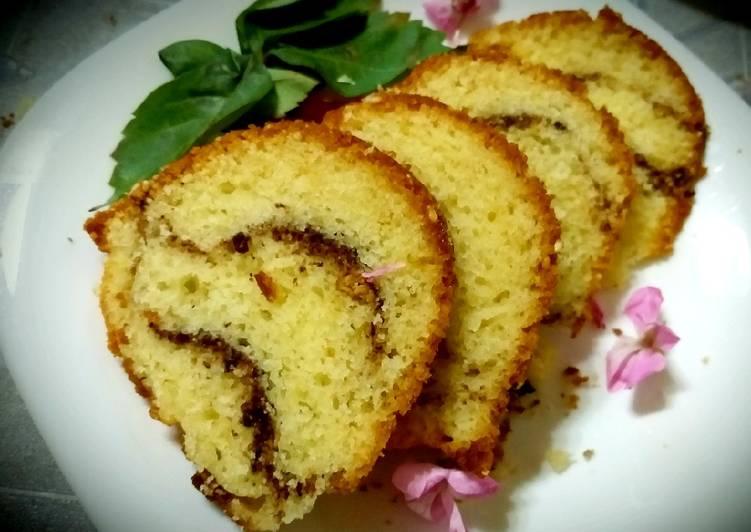 Recipe of Ultimate Kake stuffed with chocolate cookie powder, cinnamon, almonds
