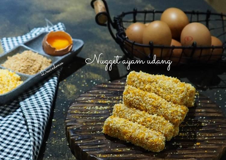Bagaimana Menyiapkan Nugget ayam udang  #pejuangGoldenApron3, Enak Banget