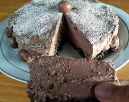 Choco cheesecake (tanpa oven tanpa kukus)