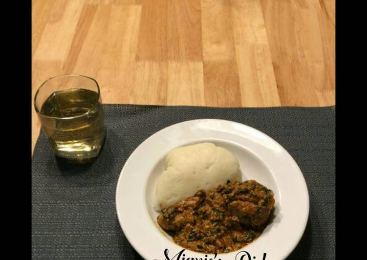 Easiest Way to Prepare Perfect Pounded Yam with Egusi Soup and Chicken