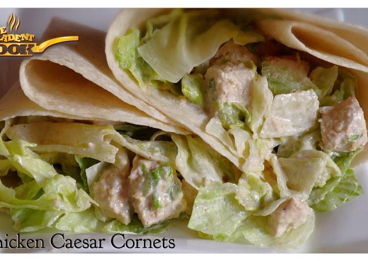 Easiest Way to Cook Yummy Chicken Caesar Cornets