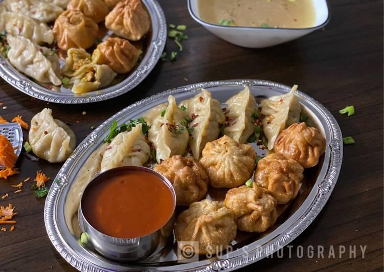 Steamed & Fried Chicken Momos (Dumplings) – Food Network Cookbooks