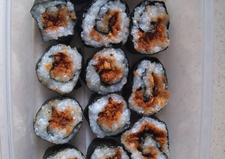 Sushi isi abon sapi