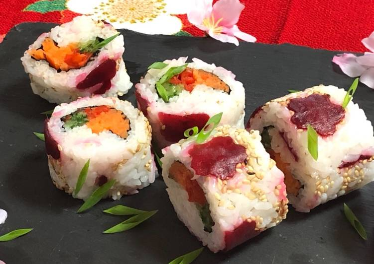 Beetroot Roll Sushi