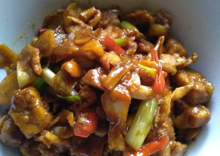 Ayam tempe spicy teriyaki