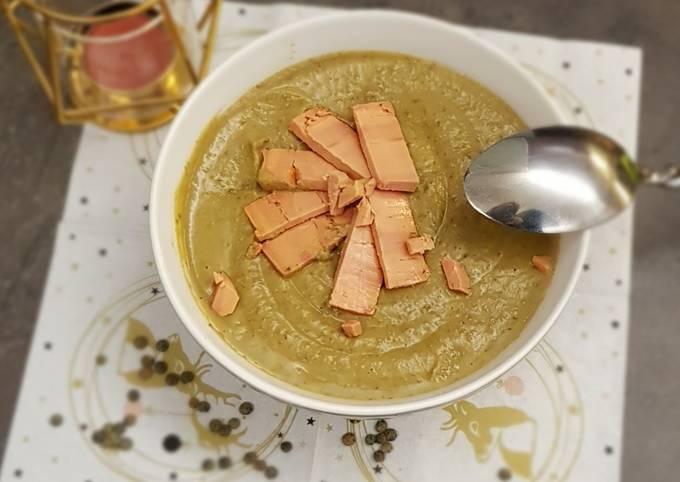 °Velouté de lentilles et copeaux de foie gras °