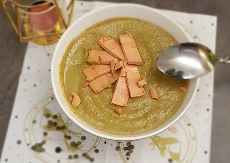 Recette Savoureux °Velouté de lentilles et copeaux de foie gras °