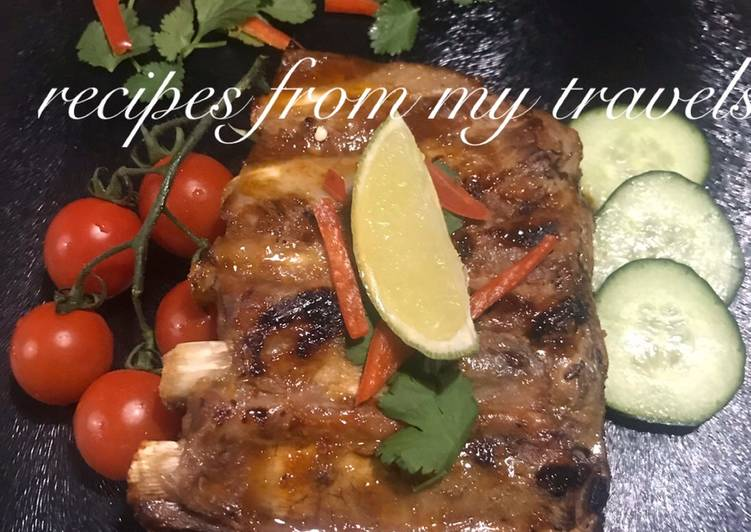 How to Make Super Quick Homemade Whisky (non-alcoholic) infused pork ribs with chilli & lime glaze